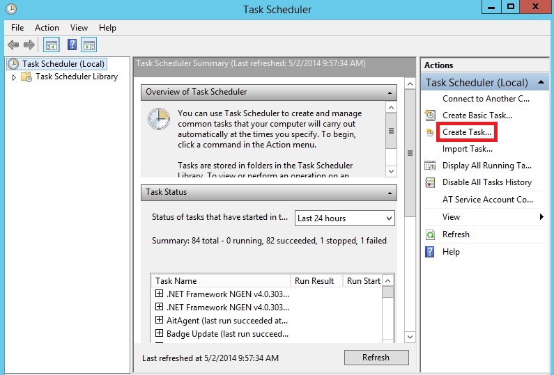 Create Task control